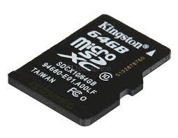 MICRO SD KINGSTON 64GB CLASE 10
